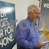 Rob Winner – rwinner@shawmedia.com<br /> <br /> Paul Rasmussen speaks at The Lincoln Inn during a presentation about failing roads and bridges that hurt local farmers on Wednesday, Nov. 6, 2013.