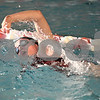Monica Maschak - mmaschak@shawmedia.com<br /> Sam LeBlanc swims freestyle during practice on Wednesday, November 13, 2013. LeBlanc, a senior, is unable to attend a swim meet this weekend so her sister, Colette LeBlanc, a freshman, will take her place.