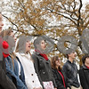 "Rob Winner – rwinner@shawmedia.com<br /> <br /> Sycamore High School students sing ""The Star-Spangled Banner"" during an observance of Veterans Day outside the school on Monday morning.<br /> <br /> Monday, Nov. 11, 2013"