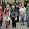 Rob Winner – rwinner@shawmedia.com<br /> <br /> Attendees of the observance of Veterans Day at Sycamore High School pause for a moment of silence outside the school on Monday, Nov. 11, 2013.