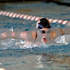 Monica Maschak - mmaschak@shawmedia.com<br /> Colette LeBlanc swims the butterfly during practice on Wednesday, November 13, 2013. LeBlanc, a freshman, will be substituting for her sister, Sam LeBlanc, at this weekend's meet.