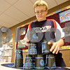 Monica Maschak - mmaschak@shawmedia.com<br /> Eight grader Jeff Ward, 13, stacks cups in a cycle at Sycamore Middle School on Thursday, November 14, 2013. Ward is second in the state in speed stacking with a time of 5.7 seconds. Students from the school hope to set a Guinness World Record during the Stack Up! cup-stacking event as part of Guinness World Records Day.