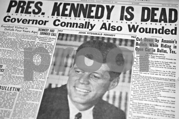 The November 22, 1963 edition of the Daily Chronicle
