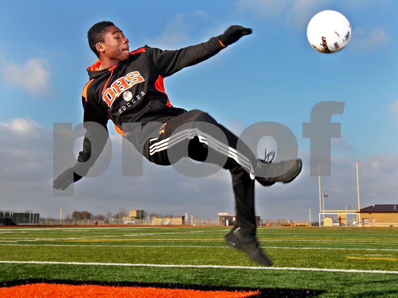 Monica Maschak - mmaschak@shawmedia.com<br /> DeKalb senior Akim Suraji is the 2013 Daily Chronicle Boys Soccer Player of the Year.