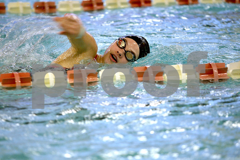 Monica Maschak - mmaschak@shawmedia.com<br /> Bailey Flemming swims a freestyle during a swim practice at Huntley Middle School on Tuesday, November 19, 2013. Flemming and three others are going to state finals for the 200-yard medley relay.