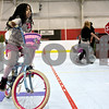 Monica Maschak - mmaschak@shawmedia.com<br /> Khamora Evans, 7, takes her bike through a miniature-town course to practice bike safety rules during Healthy Kids Day at the Kishwaukee YMCA on Saturday, April 27, 2013. The event was for kids in the county to get up and get moving as part of a national YMCA movement to promote healthier lifestyles for children. The event featured educational and physical activities such as games for families, bounce houses and a bike rodeo.