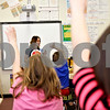 Monica Maschak - mmaschak@shawmedia.com<br /> Ana Pruteanu, a Dietetic intern and nutrition graduate student at Northern Illinois University,  teaches third-grade students about eating healthy and being active during a Coordinated Approach to Child Health (CATCH) training day at Jefferson Elementary School on Wednesday, April 24, 2013. Children at Sycamore and DeKalb school districts are taught how to make healthier lifestyle choices throughout their elementary years.