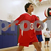 Rob Winner – rwinner@shawmedia.com<br /> <br /> Khadija Purdom, 14, practices serving a volleyball during practice at Opportunity House in Sycamore, Ill., Monday, Oct. 7, 2013.