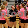Monica Maschak - mmaschak@shawmedia.com<br /> DeKalb celebrates a point in the first of two sets at Sycamore High School on Thursday, October 10, 2013. DeKalb won the match.