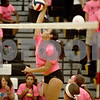 Monica Maschak - mmaschak@shawmedia.com<br /> Alexis Hammond winds up on a kill in the second of two sets at Sycamore High School on Thursday, October 10, 2013. DeKalb won the match.