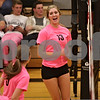 Rob Winner – rwinner@shawmedia.com<br /> <br /> DeKalb's Courtney Bemis (13) celebrates after a kill during the second game against Kaneland on Tuesday, Oct. 15, 2013. DeKalb defeated Kaneland, 25-17 and 25-15.