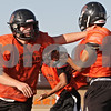 Rob Winner – rwinner@shawmedia.com<br /> <br /> DeKalb center Wes Leffelman is seen blocking during practice in DeKalb on Monday, Oct. 14, 2013.
