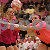 Rob Winner – rwinner@shawmedia.com<br /> <br /> DeKalb's Madison Lord tries to save a ball during the first game against Kaneland on Tuesday, Oct. 15, 2013. DeKalb defeated Kaneland, 25-17 and 25-15.