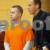 Rob Winner – rwinner@shawmedia.com<br /> <br /> Benjamin Black of Sycamore is escorted into Kane County Judge James Hallock's courtroom in Geneva, Ill., Thursday, Oct. 17, 2013. Black is accused of having opiates in his system during a crash that killed 11-year-old Matthew Ranken of Sycamore and severely injured Teale Noble, 18, of Sycamore. Black was driving a Ford Expedition that smashed into the back of a Chevrolet Cavalier carrying the two, causing a crash that involved two other vehicles, police said. Ranken and Noble were passengers in the vehicle, which was stopped in traffic along Route 64 in Kane County.