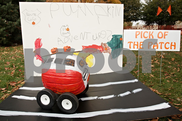 """Rob Winner – rwinner@shawmedia.com<br /> <br /> The 2013 """"Pick of the Patch"""" winner was created by Max Law as seen on the lawn of the DeKalb County Courthouse in Sycamore, Ill., Thursday, Oct. 24, 2013."""