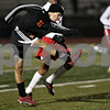 Monica Maschak - mmaschak@shawmedia.com<br /> Trevor Freeland advances the ball toward the goal in the first half against Rockford Jefferson on Wednesday, October 23, 2013. DeKalb shut out Rockford Jefferson 7-0.