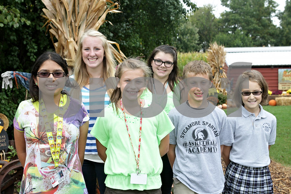 Rob Winner – rwinner@shawmedia.com<br /> <br /> The winners of the 2013 Kiwanis Pumpkin Junior Parade Marshals are (from left to right) Ashley Montano, Camryn Anderson, Kelsey Mulligan, Kennedy Walker, George Stice and Emma Doering.<br /> <br /> Thursday, Oct. 3, 2013<br /> Sycamore, Ill.