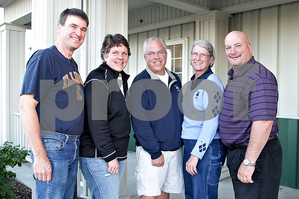 Monica Maschak - mmaschak@shawmedia.com<br /> The Sycamore Park District is this year's Friend of the Pumpkin Festival. Left to Right: Ted Strack, Michelle Schulz, Bill Kroeger, Ann Tucker and Daryl Graves.
