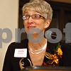 Monica Maschak - mmaschak@shawmedia.com<br /> Ann Lehan, of Lehan Drugs, addresses attendees after being awarded with the Athena Award at the 24th Annual Athena Reception at the Hopkins Park Terrace Room on Thursday, October 24, 2013. The Athena Award recognizes a person for business and professional accomplishments, community service, and for serving as a role model to encourage women to reach their full leadership potential.