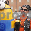 Rob Winner – rwinner@shawmedia.com<br /> <br /> Cole Roach, 7, of Davis Junction arrives at the Sycamore Pumpkin Festival with his decorated pumpkin on Wednesday, Oct. 23, 2013.