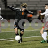 Monica Maschak - mmaschak@shawmedia.com<br /> Alex Vaughn-Low dribbles in the first half against Rockford Jefferson on Wednesday, October 23, 2013. DeKalb shut out Rockford Jefferson 7-0.