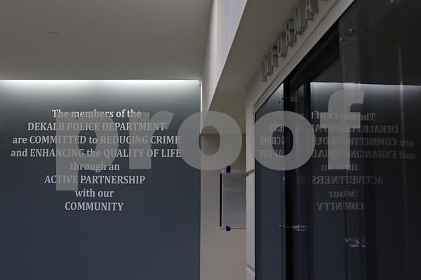 Rob Winner – rwinner@shawmedia.com<br /> <br /> The new DeKalb Police Station as seen on Wednesday, Oct. 30, 2013.