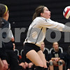 Rob Winner – rwinner@shawmedia.com<br /> <br /> Sycamore's Christina Dailey bumps a ball in the first game against Sandwich during the Class 3A Sandwich Regional quarterfinal on Monday, October 28, 2013. Sycamore defeated Sandwich, 25-10 and 25-18.