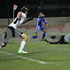 Rob Winner – rwinner@shawmedia.com<br /> <br /> Genoa-Kingston goalkeeper Andrew Caldwell watches a ball go wide of the goal late in the second half during the Class 1A State semifinal in Normal, Ill., on Friday, November 1, 2013. Herscher defeated G-K, 4-1.