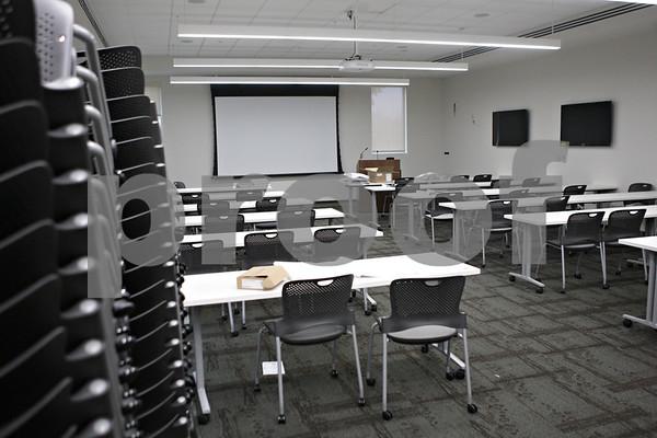 Rob Winner – rwinner@shawmedia.com<br /> <br /> A meeting room is seen at the new DeKalb Police Station on Wednesday, Oct. 30, 2013.