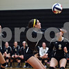 Rob Winner – rwinner@shawmedia.com<br /> <br /> Sycamore's Jenee Carlson controls a ball in the first game against Sandwich during the Class 3A Sandwich Regional quarterfinal on Monday, October 28, 2013. Sycamore defeated Sandwich, 25-10 and 25-18.