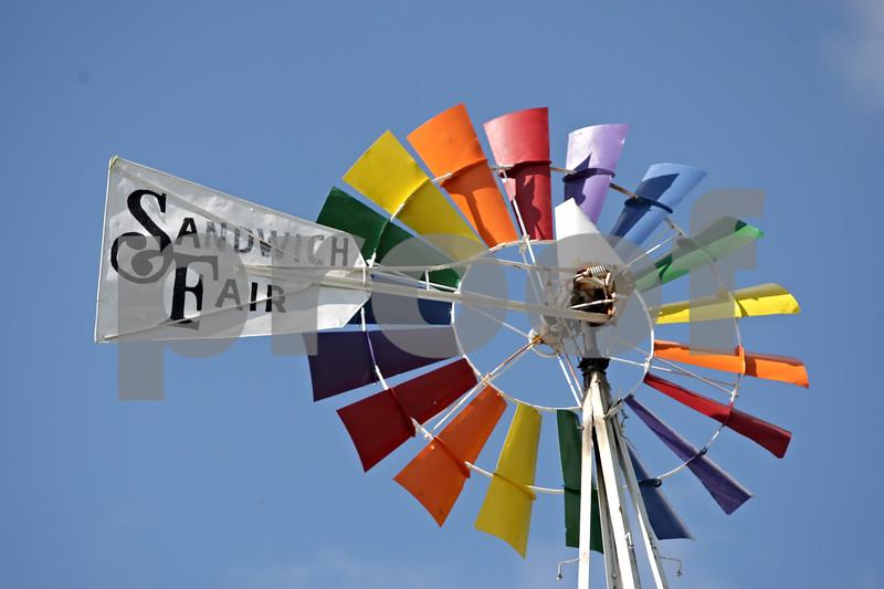 Rob Winner – rwinner@shawmedia.com<br /> <br /> The Sandwich Fair windmill as seen on Monday, Sept. 2, 2013.