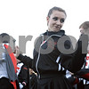 Rob Winner – rwinner@shawmedia.com<br /> <br /> Paige Harriss dances with the DeKalb marching band before the start of Friday night's game between the Barbs and Sycamore.
