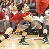 Monica Maschak - mmaschak@shawmedia.com<br /> Justine Schepler keeps the ball in a rally in the second set of a match against the University of Southern California at the Convocation Center on Saturday, September 7, 2013. The Huskies lost, winning only 1 of 4 sets.