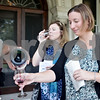 Monica Maschak - mmaschak@shawmedia.com<br /> Jennice O'Brien (front) and Tina Heffernan try some wine on the terrace at the Ellwood House Museum on Saturday, September 14, 2013. Guests enjoyed wine and catering from Inboden's and music by Craig Mathey.