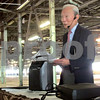 Chris Burrows - cburrows@shawmedia.com<br /> Bob Boey, of DeKalb, shares stories about the Anaconda Cable & Wire Company at the DeKalb County Economic Development Corporation's business roundtable on Tuesday on the site of the former company's Sycamore location. Boey was an engineering manager of the company in its heyday.