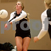 Monica Maschak - mmaschak@shawmedia.com<br /> Courtney Bemis bumps the ball in the first of two sets against Yorkville on Thursday, September 26, 2013. DeKalb won both sets.