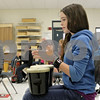 Rob Winner – rwinner@shawmedia.com<br /> <br /> Kayleen Haile, 11, beats on a drum during music class with her sixth grade classmates at Clinton Rosette Middle School in DeKalb on Tuesday, Sept. 17, 2013. All general music classes are set to be cut from middle schools in DeKalb after this academic school year.