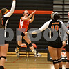Monica Maschak - mmaschak@shawmedia.com<br /> The Barbs celebrate winning two consecutive sets against Yorkville on Thursday, September 26, 2013.