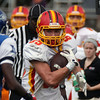 Jeff Krage – For Shaw Media<br /> Batavia wide receiver Jordan Zwart heads down the sidelines after a catch during Saturday's game against Larkin at Memorial Stadium in Elgin.<br /> Elgin 10/5/13
