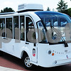 Northern Illinois University officials are testing the first vehicle that could be used for the new Huskie Pup Line, which will give students free rides around campus. Lawerence Synett - lsynett@shawmedia.com