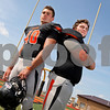Monica Maschak - mmaschak@shawmedia.com<br /> DeKalb linebackers Allen Letterer (left) and Jake Kuykendall.