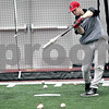 Monica Maschak - mmaschak@shawmedia.com<br /> Brian Sisler practices batting during baseball practice at the Chessick Center on Wednesday, February 12, 2014.