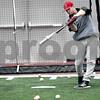 Monica Maschak - mmaschak@shawmedia.com<br /> Brian Sisler practices batting during baseball practice at the Chessick Center on Wednesday, February 12, 2014.