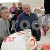 Monica Maschak - mmaschak@shawmedia.com<br /> Hampshire residents Ruth and LeRoy Getzelman, married for 59 years, receive a raffle prize at a breakfast for couples married 50 years or longer at St. Mary's Memorial Hall in Sycamore on Thursday, February 13, 2014.