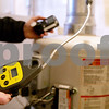 Monica Maschak - mmaschak@shawmedia.com<br /> The combustible gas detector (front) and the four-gas meter, which checks for oxygen, hydrogen sulfide, carbon monoxide and explosive limits, are tools used by fire fighters to check the air when they receive a call for a natural-gas smell. Common areas for carbon monoxide leaks are around water heaters, furnaces and stoves.