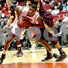 Monica Maschak - mmaschak@shawmedia.com<br /> Northern Illinois' Darrell Bowie holds possession of the ball in the first half against Central Michigan on Wednesday, February 12, 2014. The Huskies won, 88-63.