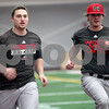 Monica Maschak - mmaschak@shawmedia.com<br /> Eli Anderson and TJ Schrader end their baseball practice with sprints at the Chessick Center on Wednesday, February 12, 2014.