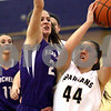 Monica Maschak - mmaschak@shawmedia.com<br /> Sycamore's Madi Ruddell attempts two points in the second quarter of the Class 3A Regional tournament against Rochelle at Plano High School on Wednesday, February 19, 2014.