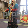 The Rev. Michelle Oberwise Lacock sings and plays a drum Sunday at the Sycamore United Methodist Church. Sunday's service was focused on the Native American culture.