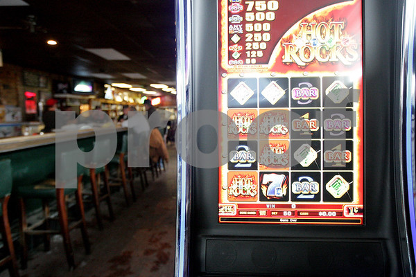 Monica Maschak - mmaschak@shawmedia.com<br /> Video gambling machines like this one at Sullivan's can now be found in bars around the county.
